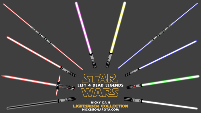 Left 4 Dead 2 lightsaber collection